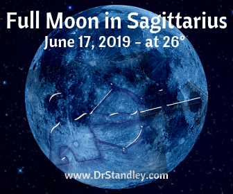 Full Moon in Sagittarius on June 17, 2019 on DrStandley.com