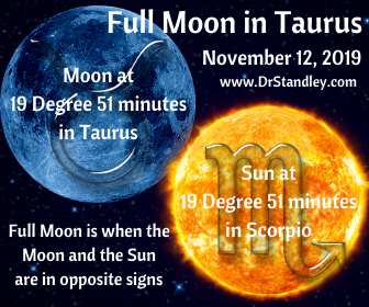 Full Moon in Taurus 2019 on DrStandley.com