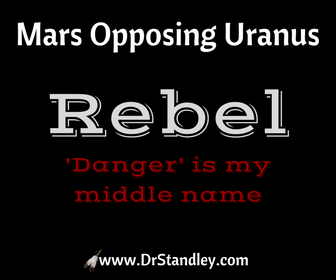 Mars Opposing Uranus on www.DrStandley.com