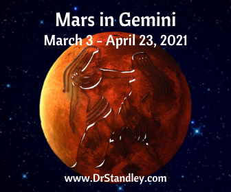 Mars in Gemini on DrStandley.com