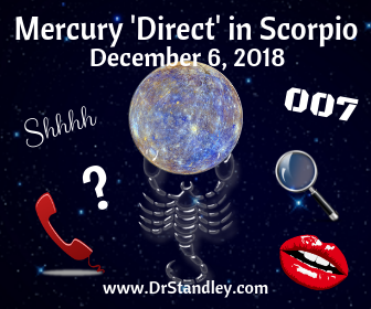 Mercury turns Direct in Scorpio on DrStandley.com