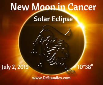 New Moon Solar Eclipse in Cancer on Tuesday, July 2, 2019 on DrStandley.com