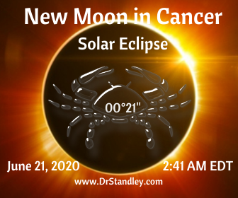 New Moon in Cancer Solar Eclipse on DrStandley.com
