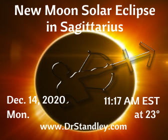 New Moon Solar Eclipse in Sagittarius on DrStandley.com