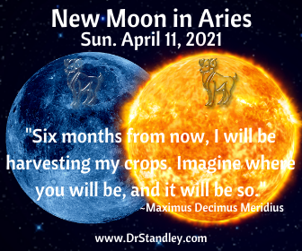 New Moon in Aries 2021 on DrStandley.com