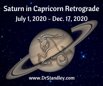 Saturn Retrogrades back into Capricorn July 1, 2020 - December 17, 2020 on DrStandley.com