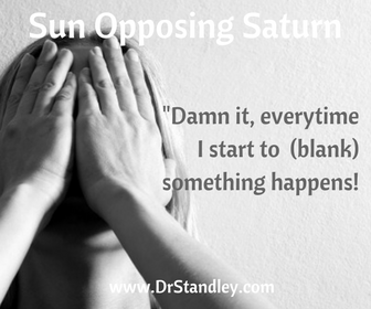 Sun Opposing Saturn on DrStandley.com