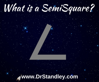 What is a SemiSquare aspect in astrology?